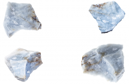 Angelite crystals raw
